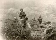 Всадники в горах Кавказа