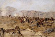 Схватка русских с горцами - © Музей-панорама «Бородинская битва»