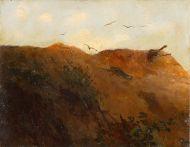 Павший солдат на склоне холма - © Музей-панорама «Бородинская битва»