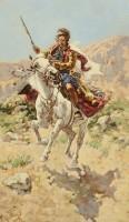 Скачущий курд со своей добычей