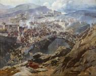 Взятие Ахульго 22 августа 1839 года - © Дагестанский музей изобразительных искусств им. П.С. Гамзатовой