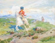 Кубанский казак на белой лошади - © Севастопольский художественный музей имени П.М. Крошицкого