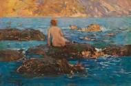 Купальщица на крымском побережье