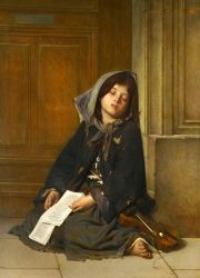 Картина французского художника Гийома-Чарльза Брана «Нищая»