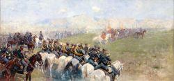 Смотр войск Александром III близ Тифлиса - © Музей-панорама «Бородинская битва»