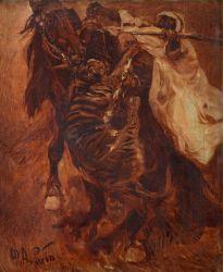 Нападение тигра на всадника - © Музей-панорама «Бородинская битва»