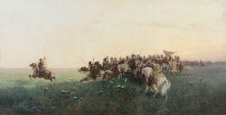 Атака запорожцев в степи - © Музей-панорама «Бородинская битва»