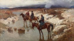 Переправа через горную реку - © Музей-панорама «Бородинская битва»