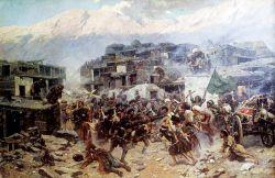 Штурм аула Салты 14 сентября 1847 года - © Национальный музей Республики Дагестан им. А. Тахо-Годи