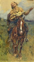 Всадник с гитарой на лошади - © Музей-панорама «Бородинская битва»