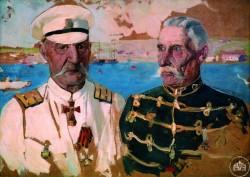 Портрет двух офицеров - © Севастопольский военно-исторический музей-заповедник