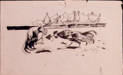Петушиный бой - © Научно-исследовательский музей при Российской академии художеств