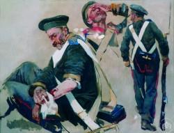 Раненый матрос и матрос с ружьем - © Севастопольский военно-исторический музей-заповедник