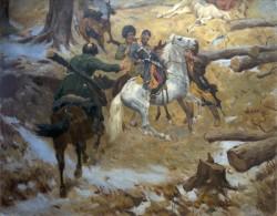 Смерть генерал-майора Слепцова в бою 10 декабря 1851 г. - © Ставропольский краевой музей изобразительных искусств