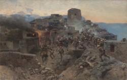 Штурм аула  Гимры 17 октября 1832 года - © Дагестанский музей изобразительных искусств им. П.С. Гамзатовой