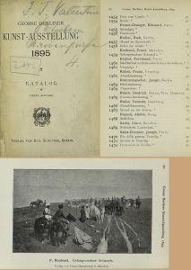 Каталог берлинской художественной выставки 1895 год
