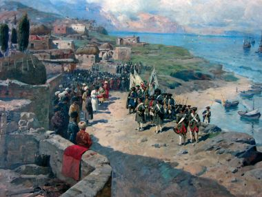 Вступление Петра I в Тарки 13 августа 1722 года - © Национальный музей Республики Дагестан им. А. Тахо-Годи, Махачкала