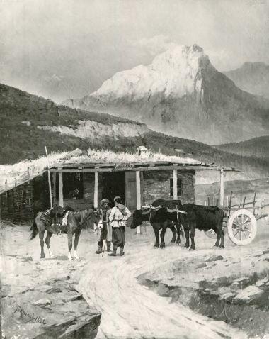 В горах у духана