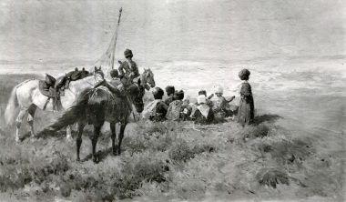 Группа кавказских горцев