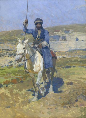 Всадник на белой лошади - © Музей-панорама «Бородинская битва»