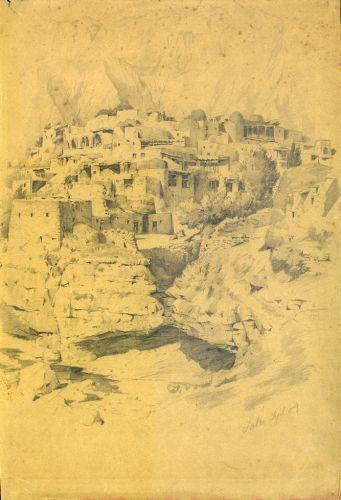 Город на Кавказе - © Музей-панорама «Бородинская битва»