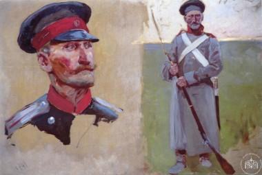 Голова офицера и солдат с ружьём - © Севастопольский военно-исторический музей-заповедник