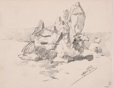 Верблюды - © Русский музей, Санкт-Петербург