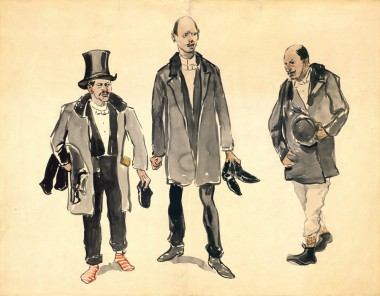 Три мужские фигуры - © Музей-панорама «Бородинская битва»