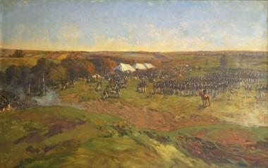 Резерв 2-й Западной армии за деревней Семёновское - © Бородинский военно-исторический музей-заповедник