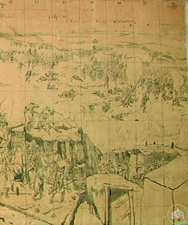 Эскиз для панорамы «Штурм 6 июня 1855 года» - © Севастопольский военно-исторический музей-заповедник