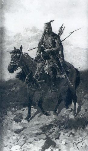 Хевсурский лучник на коне