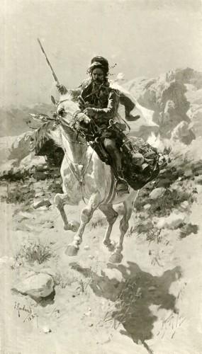 Всадник на белой лошади