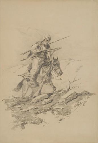 Горец верхом на лошади - © Научно-художественный Музей коневодства