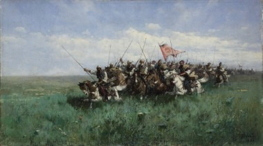 Отряд конников в степи - © ГАУК ЯО «Ярославский художественный музей»
