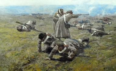Подвиг солдата Матвея Шелгунова - © Военно-исторической музей Черноморского флота