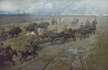 Выезд артиллерии на позиции - © Военно-исторической музей Черноморского флота